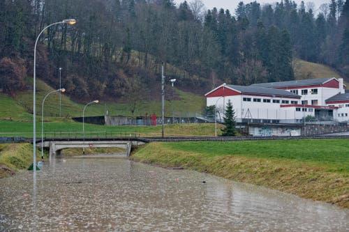 ... ebenso eine Eisenbahnunterführung. (Bild: Pius Amrein / Neue LZ)