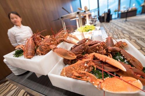 Küchenbuffet für die geladenen Gäste. (Bild: Urs Flüeler / Keystone)