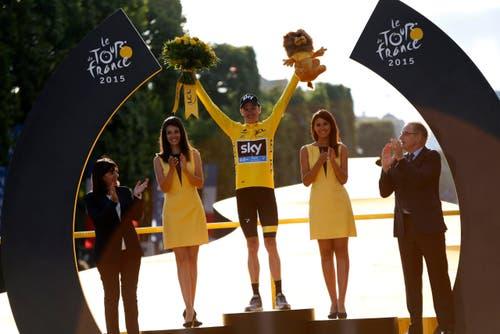 Chris Froome, Sieger Tour de France 2015 und Sieger des Bergpreises. (Bild: Epa / Kim Ludbrock)
