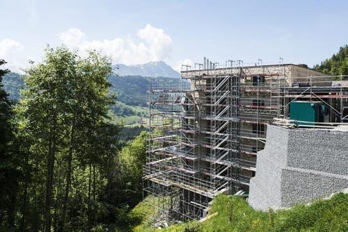 Das Bürgenstock-Resort befindet sich im Bau, aufgenommen am 6. Juni 2013. (Bild: Keystone)