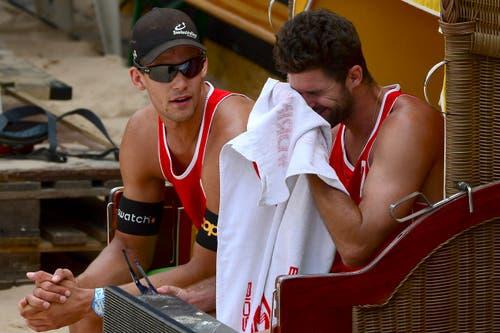 Marco Krattiger (links) und Sebastian Chevallier. (Bild: Keystone)