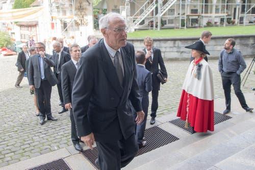Alt-Bundesrat Flavio Cotti. (Bild: Urs Flüeler / Keystone)