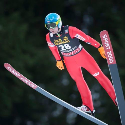Der Sieger des Springens vom Samstag: Jan Ziobro aus Polen. (Bild: SIGI TISCHLER (KEYSTONE))