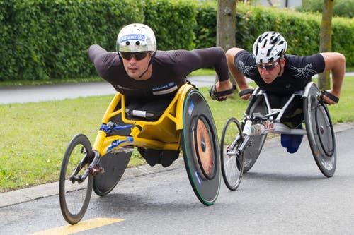 10-km-Wettkampf Marcel Hug siegte klar. (Bild: Beat Blättler)