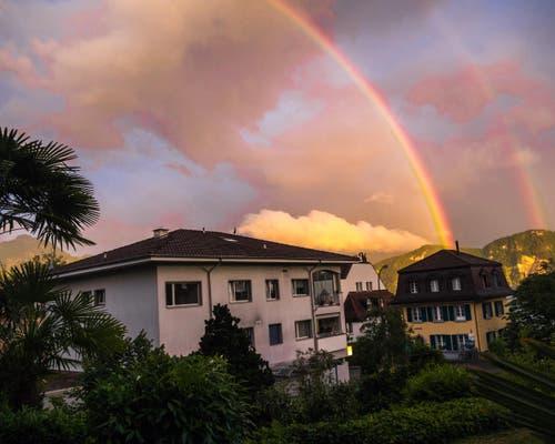 Sonnenbogen über Weggis (Bild: Mario Burger)