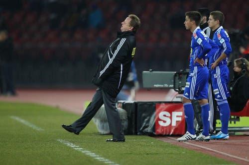 Chance vertan: Rolf Fringer im Spiel gegen den FC Zürich anfangs Februar. (Bild: Philipp Schmidli/Neue LZ)