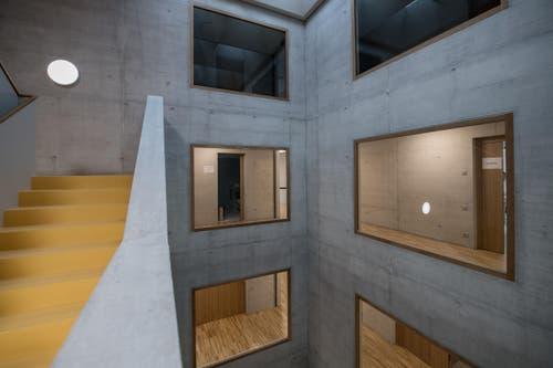In den drei Wohngebäuden entstehen jeweils sechs Wohngemeinschaften mit fünf oder zehn Bewohnern. (Bild: Pius Amrein)