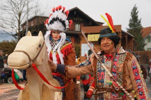 Wild Wild West in Giswil und Sarnen (Bild: Romano Cuonz (Giswil, 11. Februar 2018))
