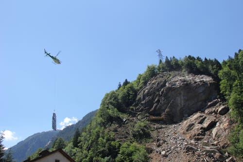 Der Fels oben rechts wird am 18. Juni weggesprengt. (Bild: René Meier / Luzernerzeitung.ch)
