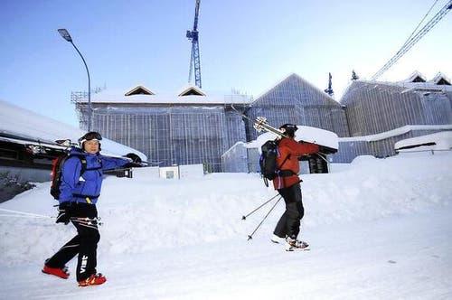 Im Dezember 2011 ruhen die Arbeiten beim «The Chedi». (Bild: Urs Hanhart / Neue UZ)