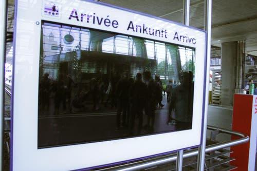 Die elektronischen Anzeigen blieben schwarz. (Bild: Christian Volken / luzernerzeitung.ch)