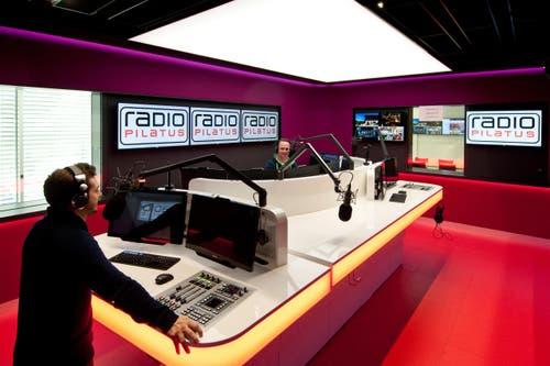 13. Oktober: Radio Pilatus hat im LZ-Medienhaus am Maihof seine neuen Studios bezogen. (Bild: BORIS MACEK)