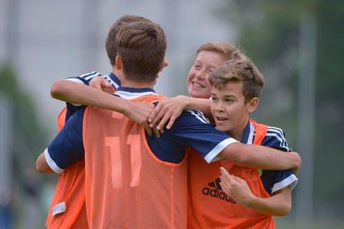 Torjubel FC Luzern. (Bild: Martin Meienberger)