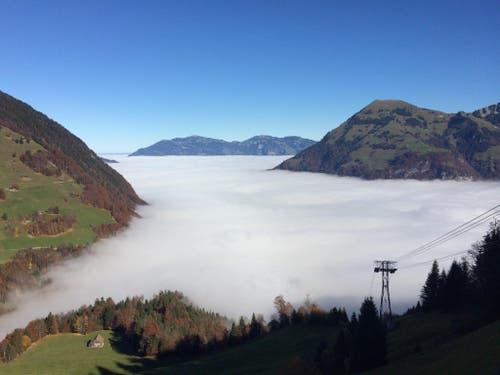 Nebelmeer unter dem Wirzweli (Bild: Martinu Jérôme)