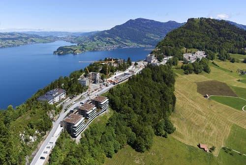 Juni 2014: Blick auf das Bürgenstock Resort (Bild: Bürgenstock Resort / Fotoagentur Aura)