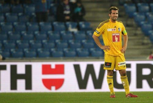 Luzerner Michel Renggli enttäuscht nach dem 1:0 (Bild: Keystone)
