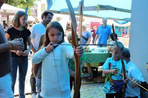 Bogenschiessen mit dem Bogenclub Uri in Altdorf. (Bild: Elias Bricker / Neue UZ)