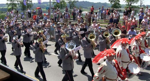 Brassband Feldmusik Winikon (Bild: Videostill rem)