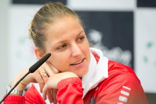 Mit Karolina Pliskova (24, WTA 14) ... (Bild: Keystone / Urs Flüeler)