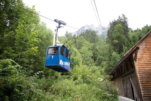 Die Seilbahn Niederrickenbach Musenalp in Dallenwil. (Bild: Manuela Jans)