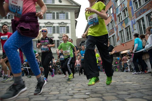 Am Luzerner Stadtlauf. (Bild: Eveline Beerkircher / Neue LZ)