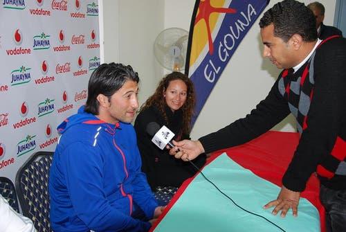 Medienkonferenz nach dem Spiel mit FCL-Trainer Murat Yakin. (Bild: Daniel Wyrsch / Neue LZ)