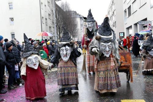 Quasi Nox Rotkreuz als Sijentalhexen. (Bild: Werner Schelbert (11. Februar 2018))