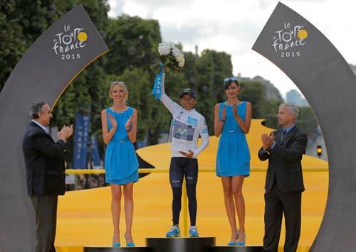 Nairo Quintana, Sieger bester Jungfahrer. (Bild: AP / Laurent Cipriani)