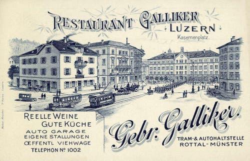 Kasernenplatz, 1899 (Bild: PD)