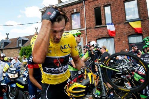 2015 ist nicht das Jahr von Fabian Cancellara: Sowohl die Tour de France als auch die Vuelta muss der Schweizer verletzungsbedingt aufgeben (6. Juli). (Bild: EPA / Yoan Valat)