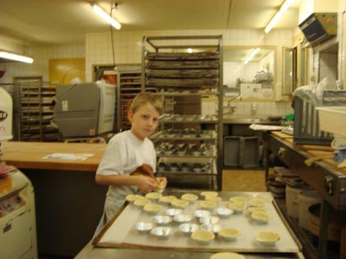 Das frühe aufstehen hat sich gelohnt! Es gefiel mir sehr in der Bäckerei Berwert. Herzlichen Dank dem Team in Wilen! Fabian (Bild: Der Bäcker)