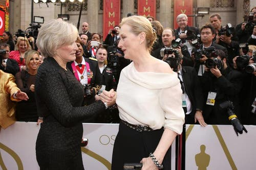 Glenn Close (links) mit Meryl Streep. (Bild: Keystone)