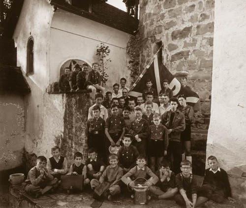 Die Jungwacht im Jahr 1956.