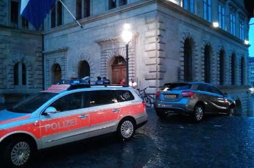 Die Polizei kam zur Unfallstelle... (Bild: Leserreporter)