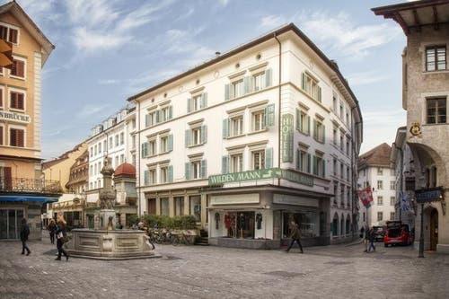 Heute: Philipp-Anton-von-Segesser-Platz mit Blickrichtung Bahnhofstrasse. (Bild: PD)