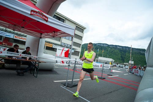 Florian Lussy erreichte den 2. Platz in der Kategorie Herren Elite. (Bild: Roger Grütter / Neue LZ)