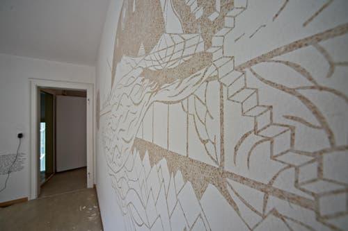 Wohnung mit Werken von Sabina Oehringer. (Bild: Pius Amrein / Neue LZ)