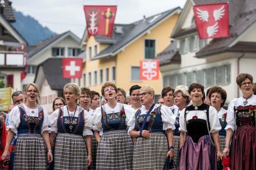 Das Heimatchoerli aus Luzern. (Bild: Alexandra Wey/Keystone)