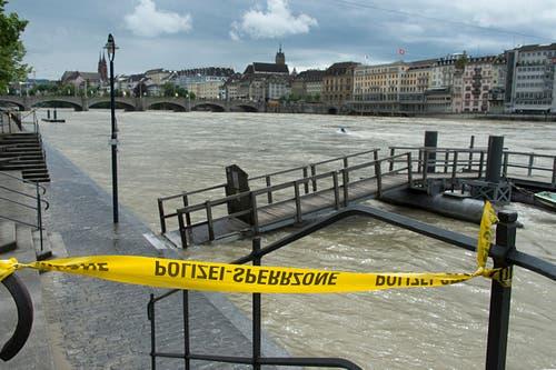 Rheinufer bei Basel. (Bild: Keystone)