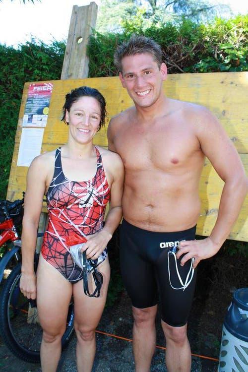 Die Sieger: Alexandra Mungenast und Julien Baillod. (Bild: Irene Infanger / Neue SZ)