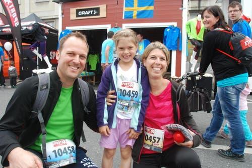 Familie Weber aus Rain mit Christian, Julienne und Andrea (Bild: Swiss-Image)