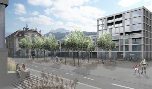 «Teiggi mit Gemeindehausplatz» (Bild: PD)