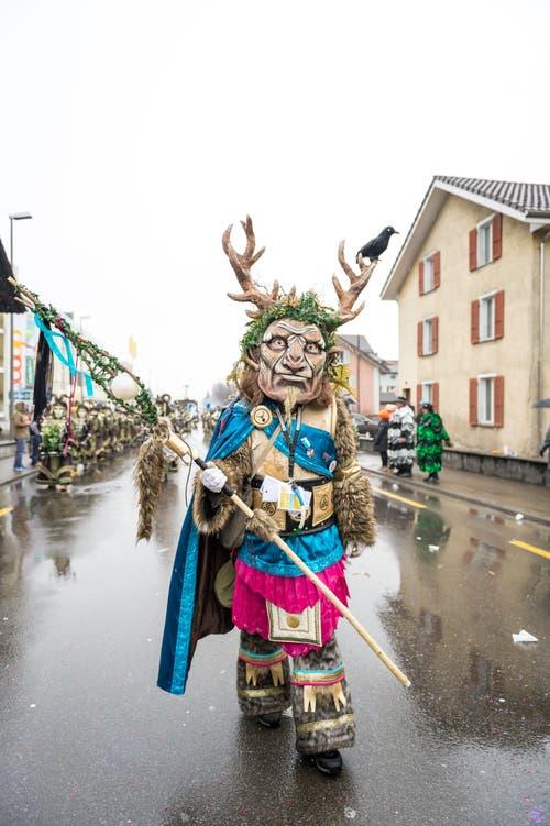 Leuechotzeler mit dem Motto «Cernunnos». (Bild: Roger Grütter (Littau, 11. Februar 2018))