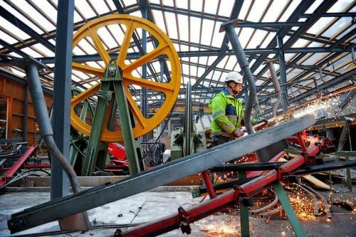 Im kommenden Jahr werden die Bahnanlagen in der alten Bergstation auf der Frutt demontiert. (Bild: Corinne Glanzmann / Neue OZ)