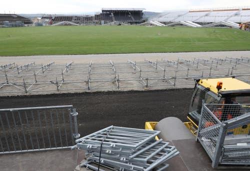 Impression von der grössten Stadion-Baustelle der Schweiz. (Bild: Swiss Image / Andy Mettler)