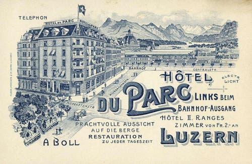 Bahnhof Luzern, 1901 (Bild: PD)
