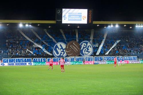Choreo der Luzerner Fans. (Bild: Keystone / Dominik Baur)