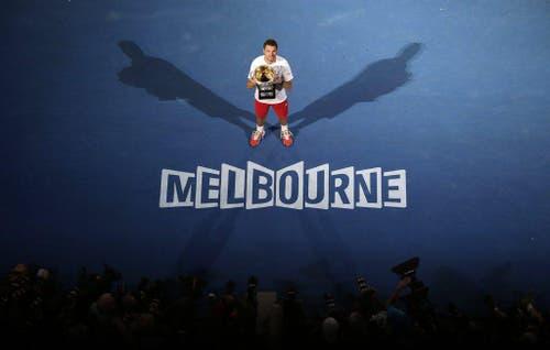 Stanislas Wawrinka gewinnt das Australian Open gegen Rafael Nadal. (Bild: Keystone)