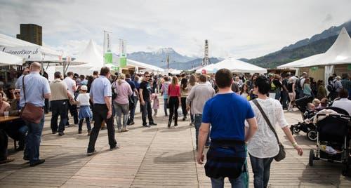 Gut besuchte Luga am ersten Messesonntag. (Bild: Manuela Jans / Neue LZ)