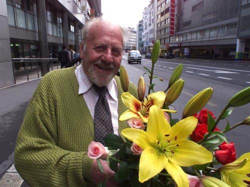 «Blueme-Bürgi», wie er auch genannt wurde, führte an der Zürichstrasse einen Blumenladen. (Bild: Neue LZ)